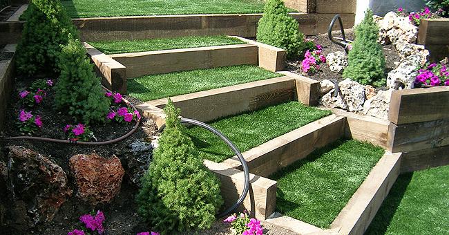 Jardines en terrazas cerjardin centro integral de - Colocar cesped artificial sobre tierra ...