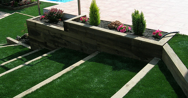 Jardines en terrazas cerjardin centro integral de for Solados para jardines
